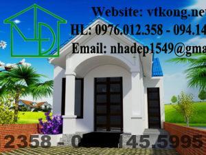 Thiết kế nhà cấp 4 giá rẻ, nhà cấp 4 mái thái NETNC4127
