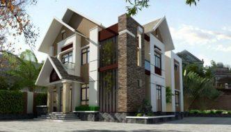 Biệt thự 2 tầng mái thái rất đẹp ở Vĩnh Phúc
