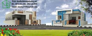 Biệt thự 2 tầng mái bằng, biệt thự 2 tầng đẹp 2017 NETBT2T18