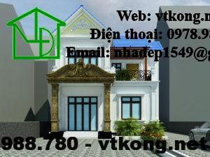 Biệt thự 2 tầng tân cổ điển, mẫu biệt thự 2 tầng đẹp nhất NETBT2T17