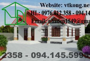 Biệt thự 1 tầng mái thái 160m2 tại Nghệ An NETBT1T27