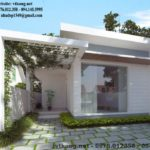 Nhà cấp 4 nông thôn đẹp, mẫu nhà cấp 4 mái bằng 6x20m NETNC4131