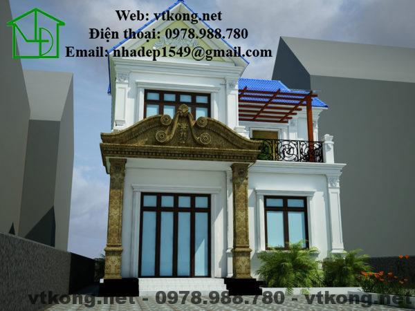 Thiết kế biệt thự 2 tầng tân cổ điển NETBT2T17