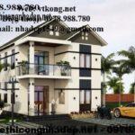 Mẫu thiết kế biệt thự đẹp 2 tầng, thiết kế biệt thự 2 tầng ở Tam Đảo-  Vĩnh Phúc