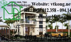 Thiết kế biệt thự đẹp 2 tầng, mẫu thiết kế biệt thự 2 đẹp ở Tam Đảo- Vĩnh Phúc