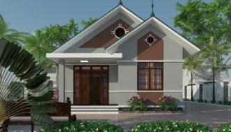 Mẫu thiết kế nhà cấp 4 đẹp mái thái ở Hà Tĩnh