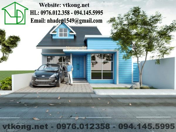 Nhà cấp 4 mái bằng đẹp giá rẻ NETNC4140
