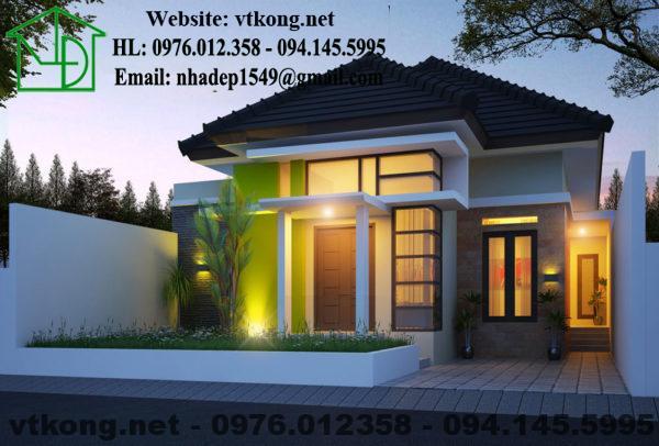 Thiết kế nhà cấp 4 mái thái đẹp NETNC4138