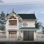 Ấn tượng bởi mẫu thiết kế nhà 2 tầng đẹp 77 m2
