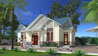 Biệt thự nhà vườn 1 tầng đẹp ở Mộc Châu- Sơn La