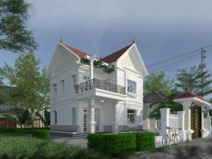 Biệt thự 2 tầng đẹp, thiết kế biệt thự 2 tầng đẹp NETBT2T191