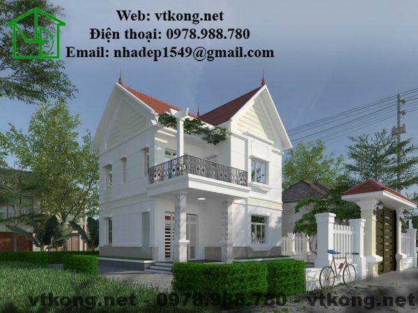 Phối cảnh tổng mẫu thiết kế biệt thự 2 tầng đẹp