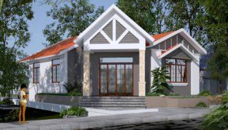 Thiết kế biệt thự 1 tầng, mẫu thiết kế biệt thự 1 tầng đẹp NETBT1T28