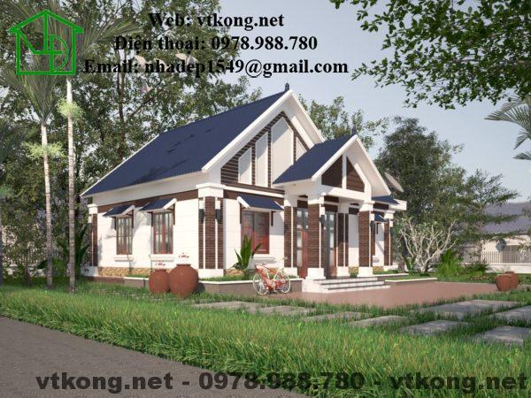 Mẫu biệt thự vườn 1 tầng 10x12m ở Thanh Hóa