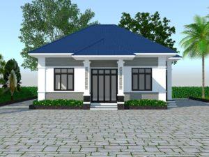 Biệt thự 1 tầng, mẫu thiết kế biệt thự 1 tầng đẹp ở Bắc Ninh NETBT1T31