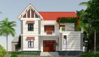 Mẫu biệt thự 2 tầng đẹp, biệt thự 2 tầng đẹp ở Thái Bình NETBT2T192