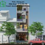 Mẫu thiết kế nhà 3 tầng 1 tum đẹp ở Quốc Oai- Hà Nội