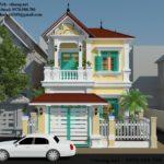 Mẫu thiết kế biệt thự 2 tầng tân cổ điển đẹp ở Bắc Ninh NETBT2T194