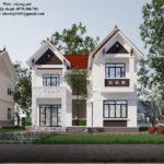 Mẫu thiết kế nhà 2 tầng đẹp ở Nam Định NETBT2T195