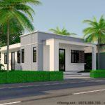 Mẫu thiết kế nhà cấp 4 mái bằng đẹp ở Sài Gòn NETNC4138