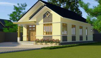 Thiết kế nhà cấp 4, mẫu nhà cấp 4 đẹp ở Hòa Bình NETNC4140