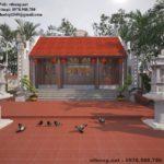 Mẫu thiết kế nhà thờ họ đẹp ở Quảng Ninh NETNTH4139