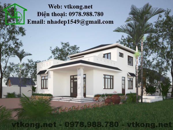 Mẫu thiết kế nhà 2 tầng 10x11m