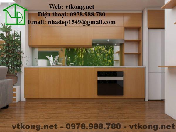 Phòng bếp mẫu nhà cấp 4 gác lửng hiện đại