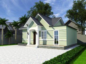 Thiết kế nhà cấp 4, mẫu nhà cấp 4 nông thôn đẹp  NETNC4150