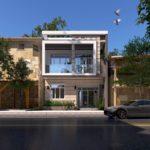 Thiết kế mẫu nhà 2 tầng mái bằng đẹp 7x12m ở Cao Bằng NETBT2T197