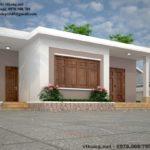 Mẫu thiết kế nhà cấp 4 mái bằng nông thôn NETNC4144