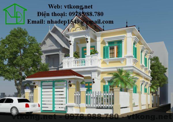 Mẫu thiết kế nhà 2 tầng 7x14m