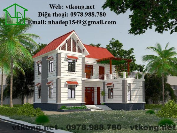 Mẫu thiết kế nhà 2 tầng 11x7m