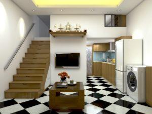 Thiết kế nội thất cải tạo nhà tập thể Kim Mã Thượng- Hà Nội NETNC4153