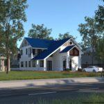 Tham khảo bản thiết kế nhà cấp 4 gác lửng mái thái NETNC4154