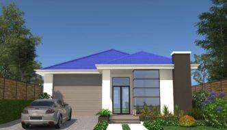 Thiết kế biệt thự 1 tầng, biệt thự 1 tầng mái thái đẹp NETBT1T34
