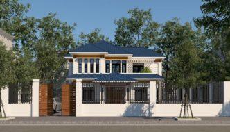 Biệt thự 2 tầng mái thái hiện đại ở Hòa Bình NETBT2T200