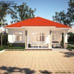 Độc đáo với mẫu biệt thự vườn 1 tầng mái thái đẹp NETBT1T35