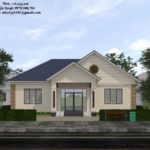 Bản vẽ thiết kế nhà cấp 4 mái thái nông thôn đẹp NETNC4158