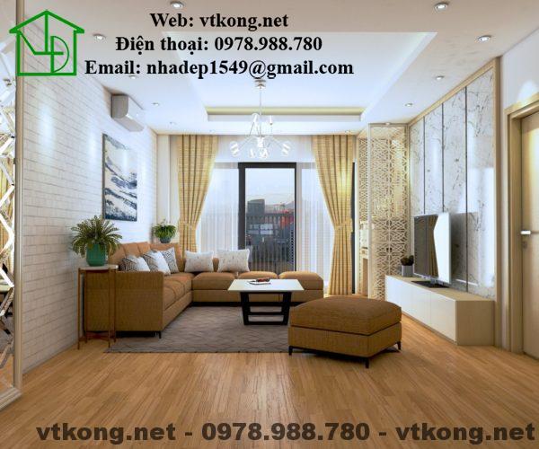 Phòng khách của căn hộ chung cư cao cấp