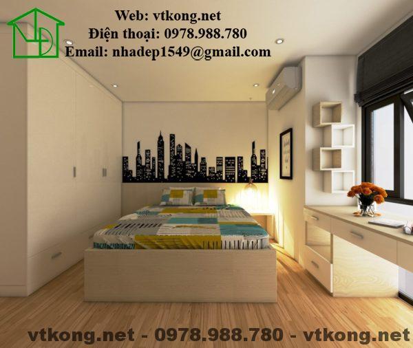 Phòng ngủ thứ 2 của căn hộ chung cư cao cấp