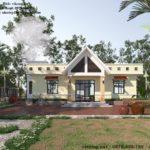 Mẫu tham khảo thiết kế nhà cấp 4 mái bằng đẹp NETNC4157