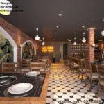 Đặc sắc riêng của mẫu thiết kế nội thất nhà hàng lẩu nấm Việt Hoa NETNH1